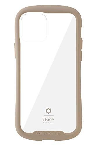 iFace Reflection iPhone 12/12 Pro ケース iPhone2020 6.1インチ クリア 強化ガラス [ベージュ]