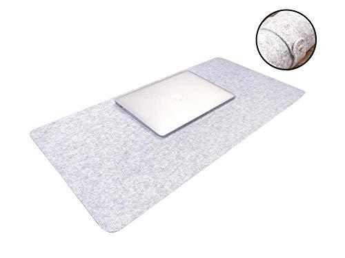 Draagbare grote vilt bureau pad met riem anti-slip muis pad toetsenbord mat, Office Home Gaming schrijven mat, tafel organisator beschermer mat 120x50cm Lichtgrijs