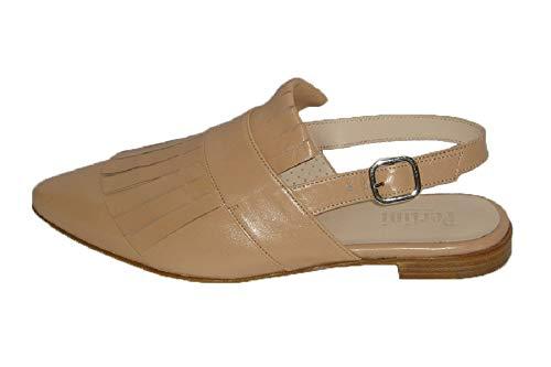 Pertini 13177, Zapato Mujer piel Nude flecos (37 EU, Nude)