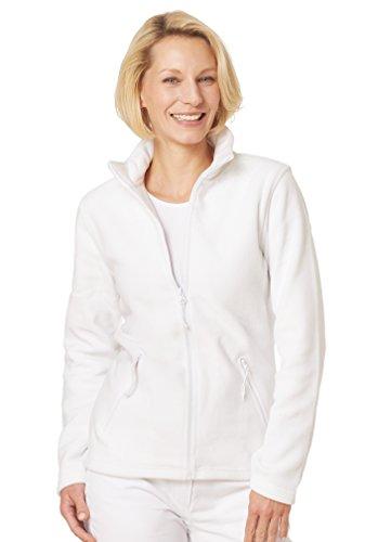 clinicfashion 13019009 Fleece-Jacke für Damen, weiß, Mischgewebe, Größe S