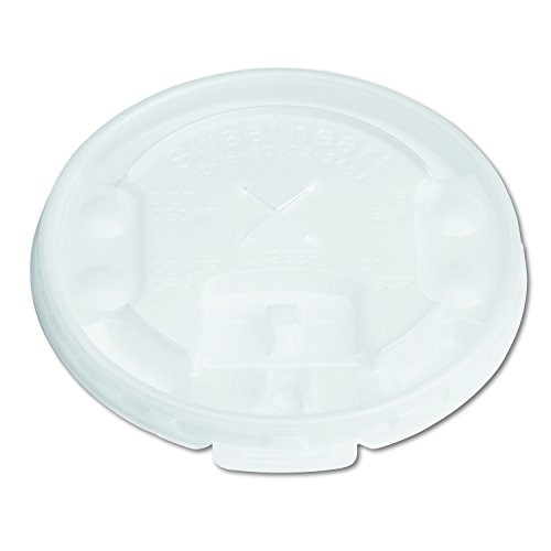 Solo LX2SBR-00100 Lift & Lock Tab W/ Straw Slot Translucent Lid - For Trophy Plus Cups (Case of 2000)