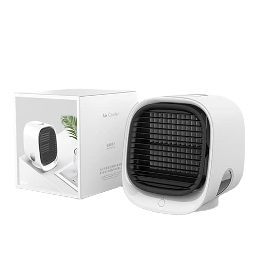 JONJUMP Mini USB aire acondicionado ventilador ventilador de refrigeración de aire escritorio humidificador purificador para oficina dormitorio con 7 colores luz
