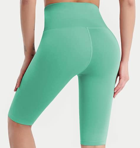 Nupcknn Pantalones Cortos Deportivos para Mujer Pantalones Cortos de Yoga Verde