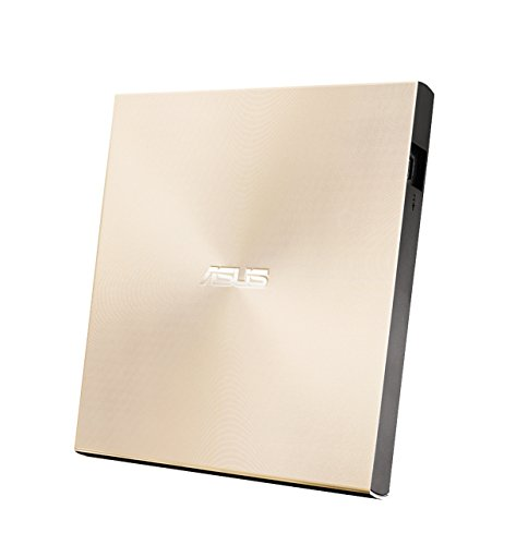 Asus ZenDrive U9M externer DVD-Brenner (für Apple MacBook & Windows PCs/Notebooks, inkl. USB-C Kabel, Brennsoftware & Nero Backup App, M-Disc Support, USB 2.0) gold