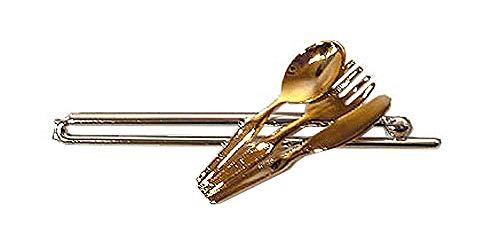 Krawattenklammer knife fork spoon 2c