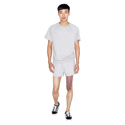 American Apparel Herren California Fleece Retro Legere Shorts, grau meliert, X-Groß