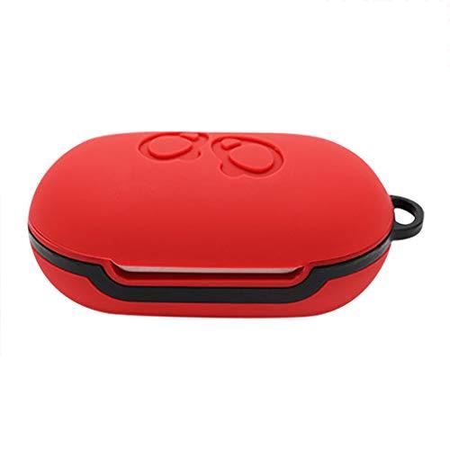 HSKB Kopfhörer Silikon Case, Schutzhülle Skin Tasche Staubdicht Kratzfestes Gehäuse Fall-Abdeckung für Samsung Galaxy Buds Bluetooth in Ear Ohrhörer Case Cover (Rot)