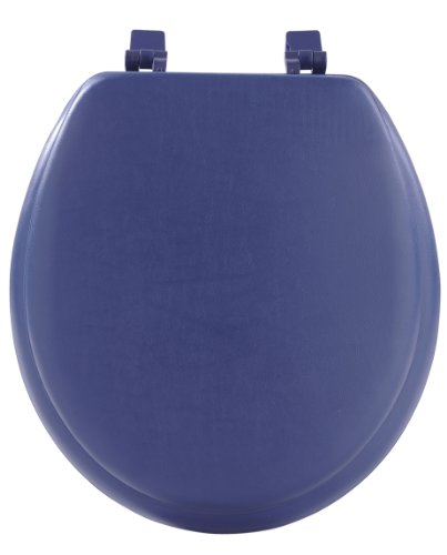 Achim Home Furnishings Navy TOVYSTNY04 17-Inch Fantasia Standard Toilet Seat, Soft