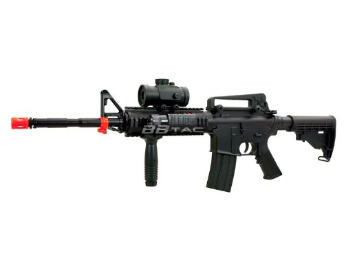 BBTac M83 Full and Semi Automatic Electric Powered Airsoft Gun Full Tactical Accessories Ready to Play Package Entry Level