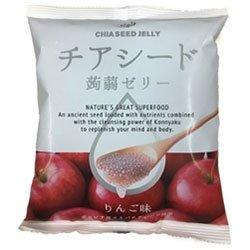 チアシード蒟蒻ゼリー りんご味 10個×12袋入×(2ケース)