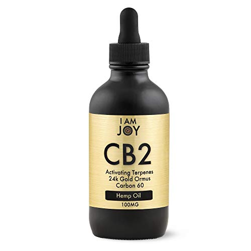 I Am Joy: Pure Hemp Oil Extract, CB2 Terpenes, 24k Gold Ormus, C60, Lavender, Rose & Lemon Flavor - The Best & Only Blend of its Kind for Pain Stress Anxiety Relief Focus Clarity Happiness 4oz 100mL