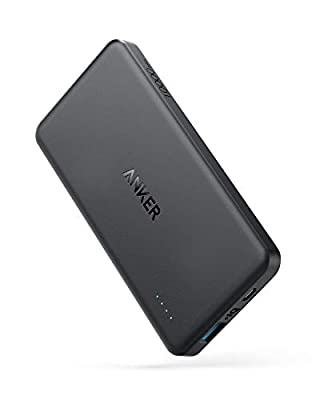 Anker Power Bank, PowerCore II Slim 10000 Ultra Slim Portable Charger, Upgraded PowerIQ 2.0, fast charge for iPhone, Samsung Galaxy and More
