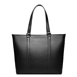 KOKOL トートバッグ 9ポケット 自立 ビジネストートバッグ ビジネスバッグ メンズ 大容量 A4 PC収納 (ブラック)