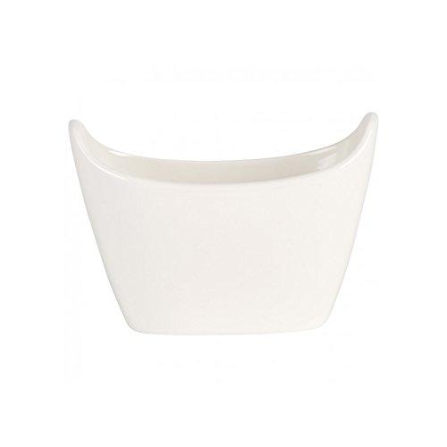Villeroy & Boch BBQ Passion aardappel Bol Set/stijlvol servies in wit van porselein/magnetron veilig/voor 2 personen / 13,4 x 7 x 9,3 cm