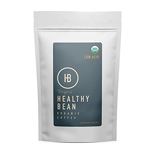 Healthy Bean Coffee - Espresso, Low Acid Coffee   Ground, Organic   - 11oz.