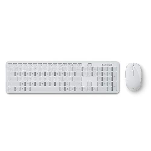 Microsoft Bluetooth Desktop (Set mit Maus und Tastatur, deutsches QWERTZ Tastaturlayout, Monza Grau, kabellos)