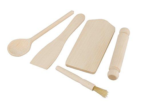 Tala FSC Certified Beechwood Kids Baking Set, Wood, Beige, 5 x 10 x 29 cm