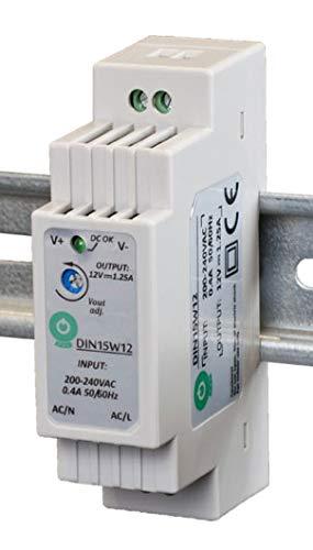 POS Professionelles Hutschienen Netzteil LED Trafo 24V DC 0,63A 15W, Konstantspannung, CE, Schutzarten: Kurzschlussschutz, Überspannungsschutz. Für LED Produkte 24V DC,