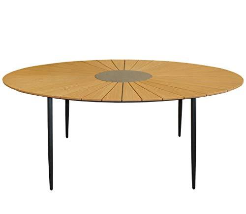 KMH mbH KMH®, Ovaler Holzimitat-Tisch/Gartentisch *Wolfsburg* 180 x 115 cm (#106162)