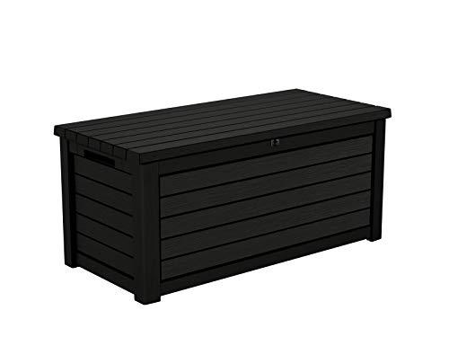 Koll Living Aufbewahrungsbox/Kissenbox Blackwood, 630 Liter trockener & belüfteter Stauraum - mit Gasdruckfedern - Deckel bis zu 350 kg belastbar