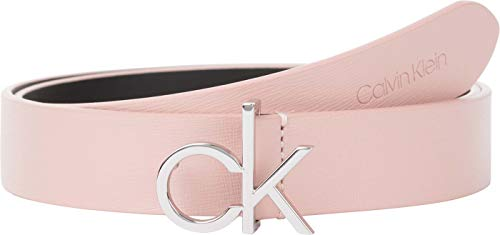 Calvin Klein CK Logo Belt 30MM Saffiano Cintura, Blush, 90 cm Donna