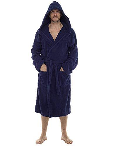 Bata de baño para hombre, 100% rizo de algodón, perfecta para el...