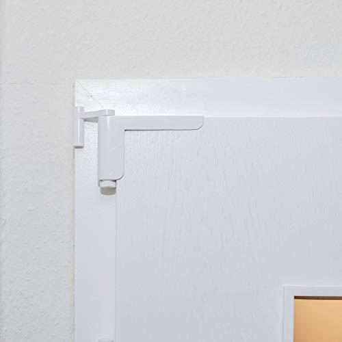 GetaDoor MOTS V3 der Mini-Türschließer / Anlehner in weiß - einfache Montage - kein Bohren oder Schrauben