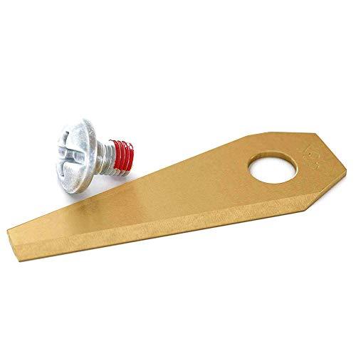 9 Stück Bosch Indego Ersatzmesser Messer, Titan Klingen für Indego - 400, 350, 800, 1000 1200, 350 450, einschl Connect