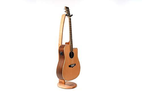 Ruach Gitarrenständer aus Holz für Akustik- und E-Gitarren, handgefertigt aus Kirsche