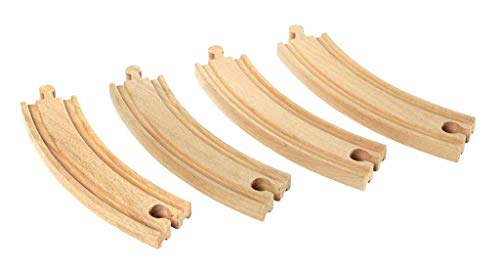 BRIO World - Large Curved Wooden Train Track for Kids Age 3 Years and Up, Compatible with all BRIO Train Sets
