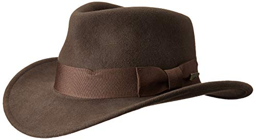Indiana Jones Herren Indy Outback Hut - Braun - MEDIUM