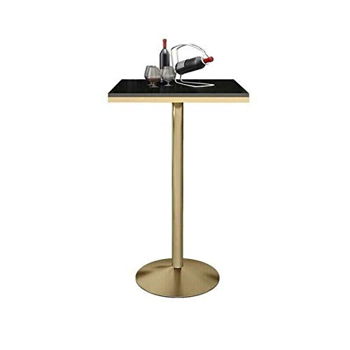 BZ-ZK Marble Bar Table, Modern Square Dining Table Restaurant Cafe Coffee Table 105CM Height Sturdy High Table(Size:55 * 55 * 105CM,Color:black)
