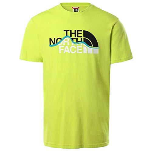 The North Face Camiseta para Hombre S/S Mountain Line tee S. Green...