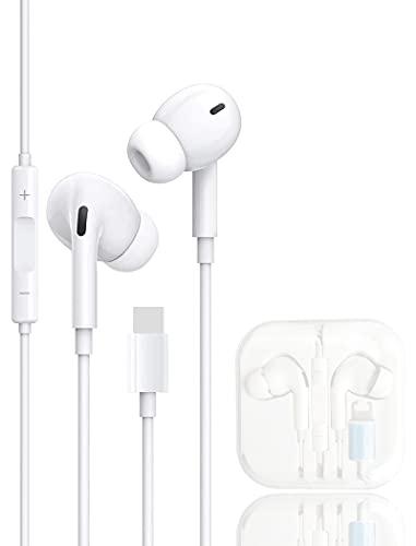 HEQI Auricolari In Ear Cuffie per iPhone 12,Compatibile Cuffie con iPhone SE/ 12/11 Pro Max/X/XS Max/XR / 8/7 Plus, Auricolari Accoppiati con Isolamento Acustico Supporto Controllo Volume Chiamata