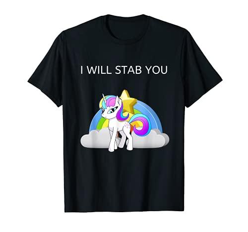 Gracioso te apualar Unicornio Arcoiris Enfermera mdica Camiseta
