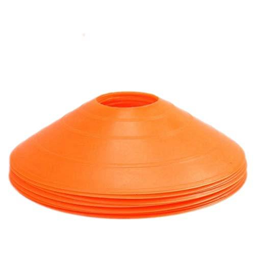 5PACK Markierungsscheiben Markierungshütchen Sport Hütchen Set zur Markierung für Das Training im Fu TIANOR (Orange)