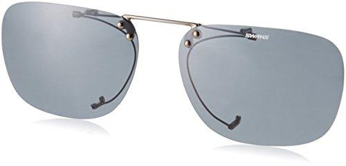 SWANS(スワンズ) 偏光 サングラス メガネにつける クリップオン 跳ね上げタイプ SCP-4 SMK2 偏光スモーク2