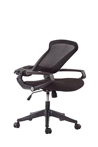 5 Minutes Completely Easy Installation Ergonomic Office Foldable Folding Swivel Home Mesh Back Task Chair (Black)