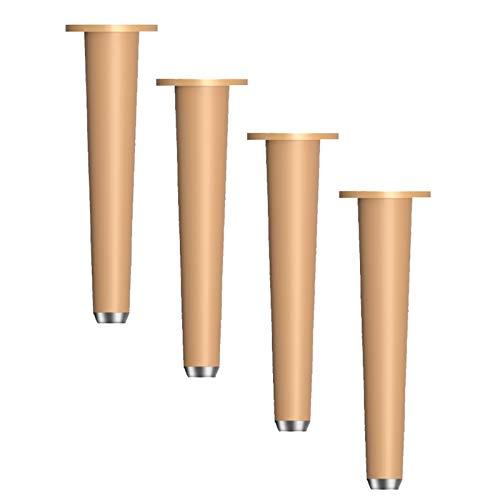 HLMBQ Patas ajustables para sofá, patas de metal resistente para escritorio de oficina, mesa de café, mesa de cocina (juego de 4) negro, varillas sólidas duraderas de cocina de 10,2 cm, 15,2 cm