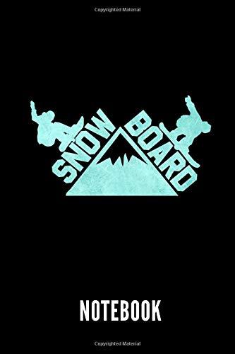 Snowboard notebook: Ein schönes Notizbuch mit 110 linierten Seiten für jemanden, der Snowboarden liebt - Ideal für Notizen zum Thema Snowboarding