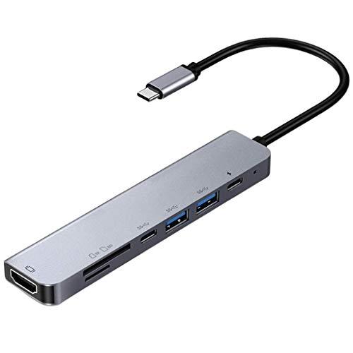 petsola Nuevo Divisor de Expansión de Concentrador Adaptador USB 3.0 Tipo C a USB-C para Macbook Pro