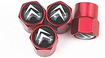 Cubierta de neumático a prueba de polvo antirrobo de aleación de aluminio cubierta de válvula de neumático de coche accesorios de neumáticopor Citroen C4 C5 C3 C2 C1 C4l Picasso Saxo