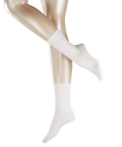 ESPRIT Damen Socken Uni 2-Pack - 80{b513a43f00992c541d977d6a39f15de2f043326e100584f15609750cdb22da72} Baumwolle, 2 Paar, Weiß (White 2000), Größe: 39-42