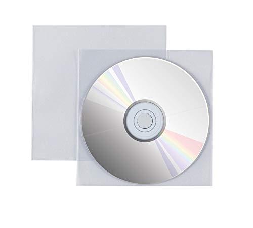 Favorit 100460134 Busta Adesiva Porta Cd/Dvd con Patella di Chiusura Formato Interno 12,5X12,5 cm, Confezione da 25 Pz.