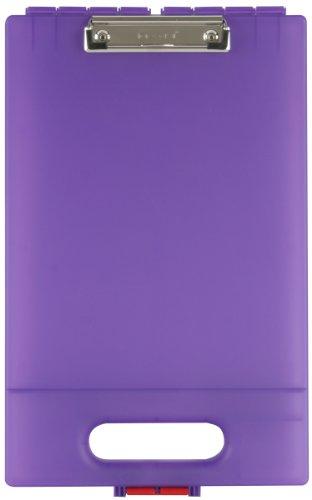 Dexas Clipcase Storage Clipboard with Handle, Purple