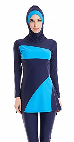 BaJooruly Traje de baño Bukini Traje de baño Modesto musulmán Hijab Traje de baño de Cobertura Completa Traje de baño Ropa de Playa (J1, 5XL, 5X_l)