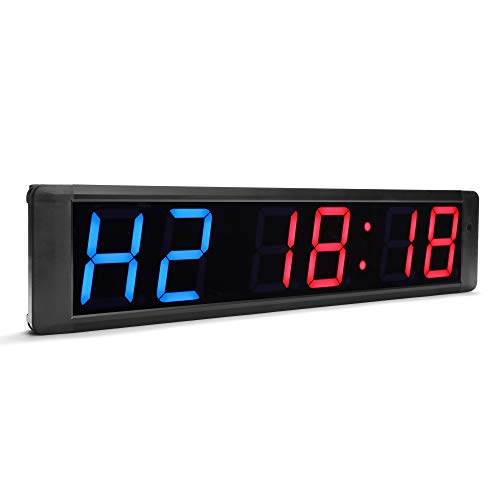 N/ A Orologio da Parete con cronometro Digitale a 4 Pollici a 6 Pollici con cronometro per Palestra