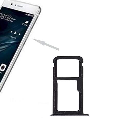 Titular de la Bandeja de la Tarjeta SIM Pieza de reemplazo de la Ranura para Huawei P10 Lite, SIMULACIÓN Bandeja de Tarjetas Y SIM/Micro Dakota del Sur Bandeja de Tarjetas (Negro) (Color : White)