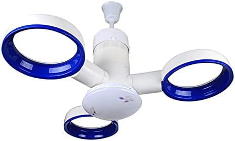 WEI-LUONG Fans de Techo Luces Colgantes creativos Control Remoto de Alta Gama Sin Cuchillas de Ventilador Ventilador de Techo Luces con Luces LED de 12W para Sala de Estar (Body Color : Blue)