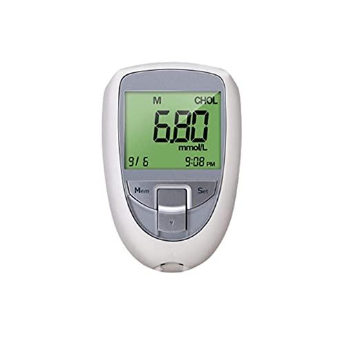 Admiring Misuratore di Glicemia, 3 in 1 colesterolo Multi-Funzione, Zucchero nel Sangue, misuratore di Test Acido urico, Tester per diabete Domestico (Color : 3 in 1 Full Set)